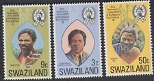 SWAZILAND 75th BIRTH ANNIV OF H.M. KING SOBHUZA II 3v FINE MNH SC #211-3- KS5073