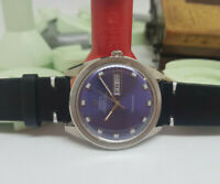 RARE 1970 OMEGA CHRONOMETER BLUE DIAL DAYDATE CAL 751 AUTOMATIC MAN'S WATCH