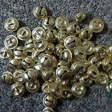 100 Stück Schellen/Glöckchen 10 mm, goldfarbig, vermessingt