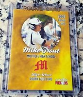 MIKE TROUT 2009 Millville High School GOLD SP Rookie Card RC HOT L.A. Angels