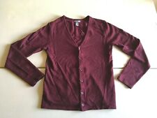 H and M Men's Cardigan Burgundy Red Small S Button Up Down Sweater Soft Vintage