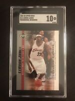 2003-04 LeBron James #14 Upper Deck Phenomenal Beginning Rookie SGC 10 Gem Mint