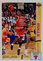 "1991 UPPER DECK MICHAEL JORDAN ""BULLS HE'S BACK MARCH 1995"" #44 BASKETBALL CARD"