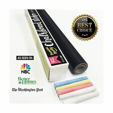 Chalkboard Contact Paper 9 foot roll (108 inches) + (5) Color Chalk Included NEW