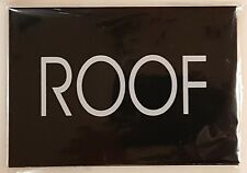 ROOF  SIGN - BLACK (SIZE 4''X5.75'')