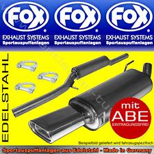 FOX AUSPUFFANLAGE VW CORRADO 135x80 2.0l 16V
