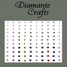 1mm 2mm 3mm Mixed Colours Diamante Self Adhesive Craft Embellishment Gems