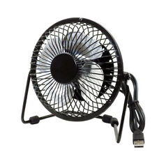 4inches Metal USB Powered mini Cooling Fan for Desktop Laptop Black