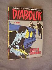 DIABOLIK ORIGINALE ANNO XIV n° 14 - 1975 - RARO - OTTIMO