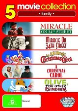 Miracle on 34th Street (1947 & 1994) /An All Dog Christmas Carol 5 movie DVD NEW