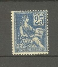 "FRANCE STAMP TIMBRE N° 118 "" MOUCHON 25c BLEU TYPE II, BLEU FONCE "" NEUF xx TTB"