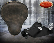 "BOBBER CONVERSION 16"" LaRosa Rustic Black Leather + 2010&up Sportster Mount Kit"