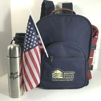Picnic At Ascot Patriotic Backpack! Gourmet Service For 2 + Quilt Checkers Game