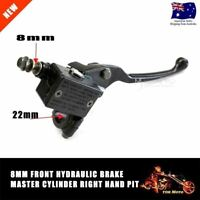 8mm Front Right Hydraulic Brake Master Lever Cylinder for 90cc Pit Dirt Bike