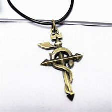 Anime Fullmetal Alchemist Snake Pendant Necklace with Steel Chain Cosplay