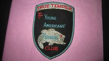 Vintage True Temper TT Young Americans Fishing Club Patch, Red Eyed Bass