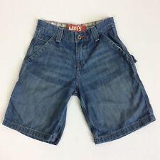 Levi's Strauss Painter Denim Jeans Shorts Boys Blue Size 8 Regular 24