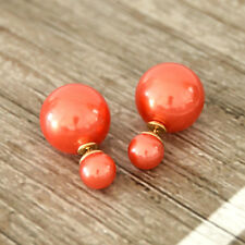 Fashion Double sided Faux Pearl Earrings