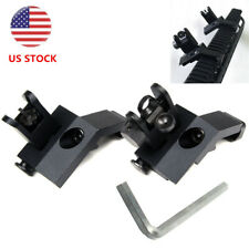 Front and Rear Flip Up 45 Degree Offset Rapid Transition Backup Iron Sight US