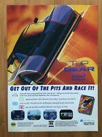 Top Gear 2 Sega Genesis 1994 Vintage Video Game Poster Ad Print Art Racing Rare!
