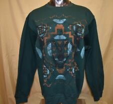Womens Mustache Brigade Wolf Design Sweatshirt Crew Shirt New M