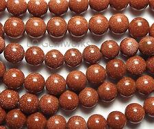 "16"" Strand GOLDSTONE 8mm Round Beads"