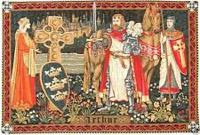 "KING ARTHUR TAPESTRY WALL HANGING 19""x27"" + BORDER, FULLY LINED WITH ROD SLEEVE"