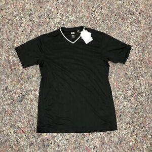 Uniqlo Soccer Mesh Black Soccer Jersey Summer Short Sleeve T-Shirt Brand New XL