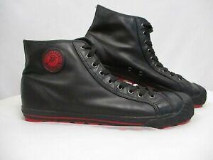 PF FLYERS Black Vulcanized Posture Foundation Rigid Wedge High Top Sneakers - 14