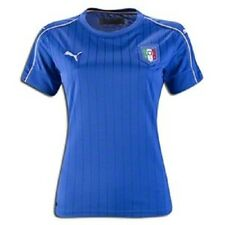 Puma Women's FIGC Italy Home S/S Replica Shirt Power Blue White Large NWT Italia