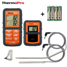 ThermoPro MEAT THERMOMETER Wireless Smoker Remote Dual 2 Probe Digital Barbecue