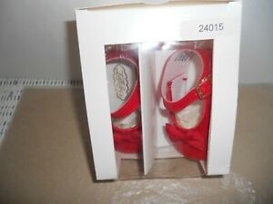 Lullaby Baby Shoes Red  Patent Leather M Jane w/ Buckles Size 2 5-8 Mo