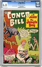 Congo Bill  #3  CGC  6.0  F+  Off white to wht pgs  12/54-1/55  Nick Cardy cover