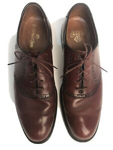 Alden Mens Oxfords Brogue Dress Shoe Brown Leather Shell Cordovan Size 9 AAA