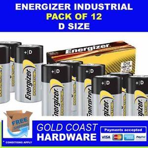 ENERGIZER INDUSTRIAL BATTERIES D SIZE 12 PACK