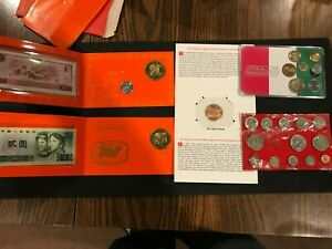 Coins sets from China1994 and 1997,1993 Copper Panda, Mexico, Columbia