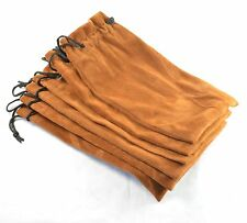 NEW 6pcs Brown Flannel bag Pipe bag For Tobacco Smoking pipe Fdai04