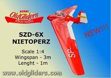 NEW!!! NEW!!!  OldGliders SZD-6X Nietoperz 1:4  3m.  KIT