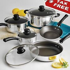 Cookware Set Simple Cooking Nonstick Pots Pans 9 Piece Saucepan Sets Polished