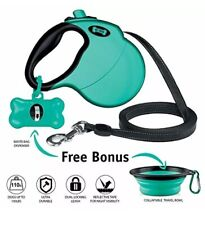 Retractable Dog Leash, 16 Ft With Free Waste Bag Dispenser And Bags
