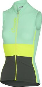 Castelli Protagonista Women's Cycling Jersey Powder Green Size Small