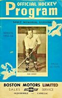 1953-54 Sault Memorial Gardens- Official Hockey Program-Soo Greyhounds