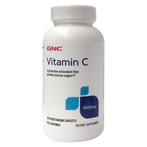 GNC Vitamin C 1000 mg. 100 Vegetarian Caplets Immune Antioxidant Exp 12/2023