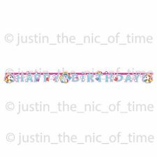 UNICORN Rainbow Girls Party Happy Birthday JOINTED LETTER BANNER 1.79m
