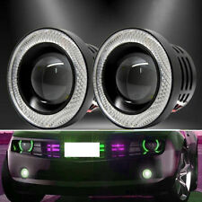 "2.5"" 64MM Car SUV Projector LED Light DRL Lens COB Angel Eye Ring Fog Lamp"