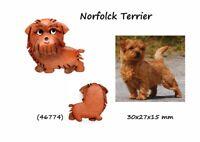 Llavero Piel Auténtica Colgante Razas Perros Norfolk Terrier