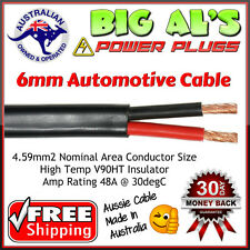 10 metre x 6mm 48Amp Dual Core Twin Sheath Auto Dual Battery Cable Wire Trailer