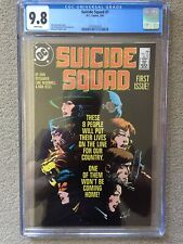 Suicide Squad 1 cgc 9.8 (1987) White Pages 1st Series