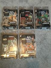 Star Wars The Saga Collection, First Issue 5 x Action Figures, MOC, 2006,MAY 4TH