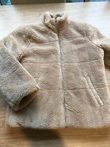 Boys Brown Beige Teddy Faux Fur Coat Jacket By River Island Age 7-8 Years